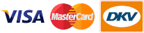 CSL accepte vos paiements sur place via VISA, MASTERCARD et DKV